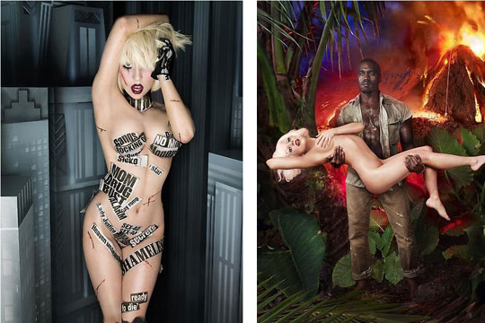 lady gaga images before and after. Lady Gaga x Kanye West by