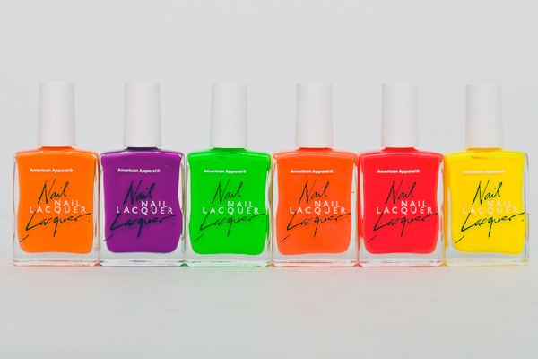 American Apparel Limited Edition Neon Nail Polish