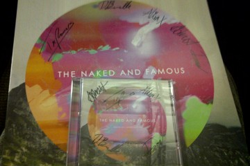 The Naked & Famous Autographed vinyl CD