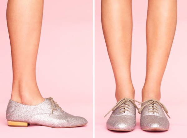 Jeffrey Campbell Uniform Glitter Oxfords