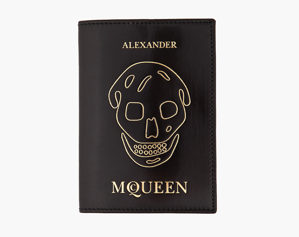 Alexander McQueen Passport Holder Front Skull