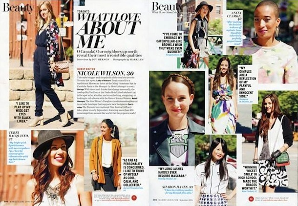 Hawley Dunbar in Marie Claire September 2014