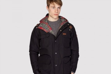 Penfield Kasson Black Hooded Mountain Parka