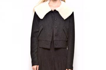 Layla Racy Shearling Collar Jacket