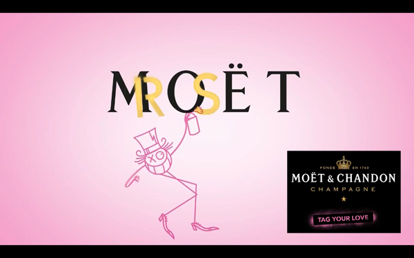 "Andre x Moët & Chandon Rosé ""Tag Your Love"" Campaign"