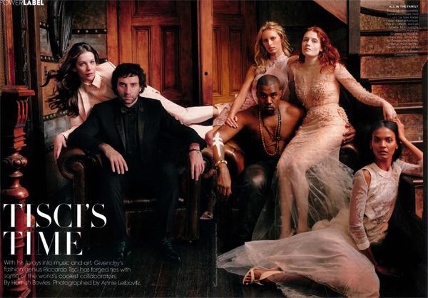 Kanye West Florence Welch Riccardo Tisci Liv Tyler Liya Kebede for March 2012 Vogue US