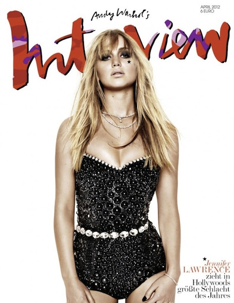 Jennifer Lawrence for Interview Magazine April 2012