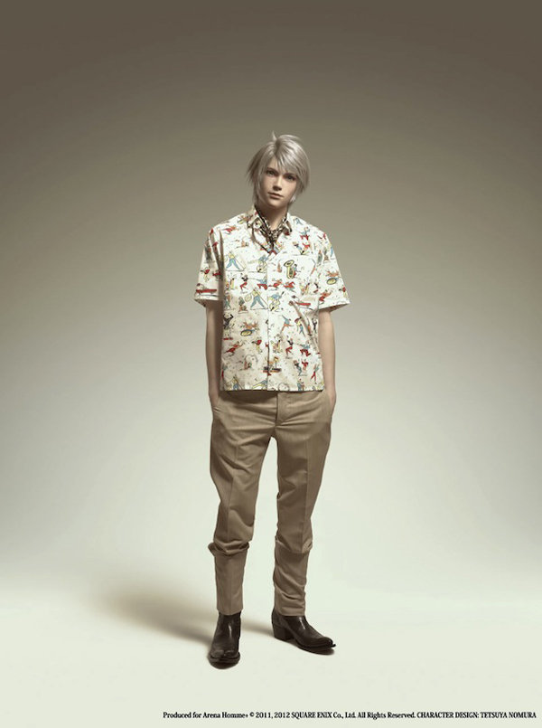 Arena Homme+ Final Fantasy x Prada Spring Summer 2012 Editorial Hope