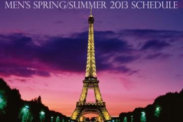 Paris Fashion Week Mens SpringSummer 2013 Schedule