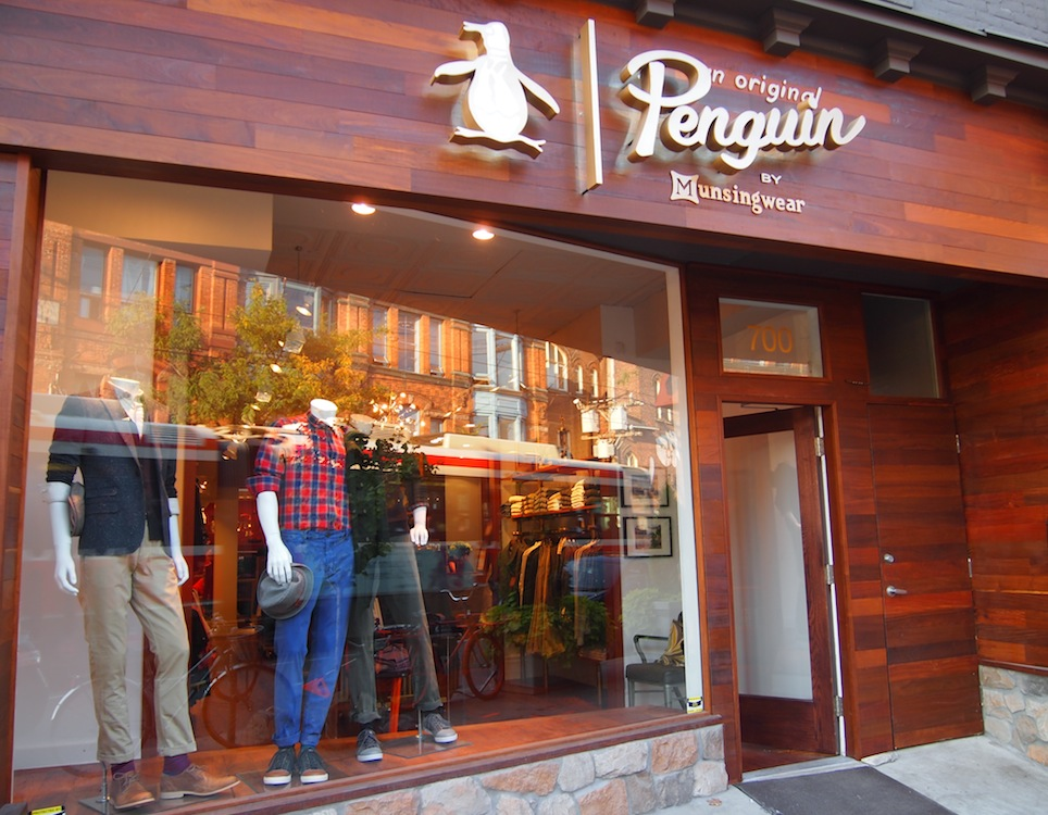 Shopping Original Penguin Lands On Queen Street