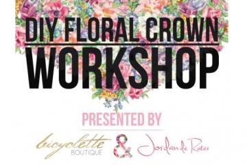 DIY Floral Crown Workshop At Bicyclette Boutique