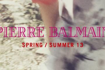 Pierre Balmain Spring Summer 2013 Video
