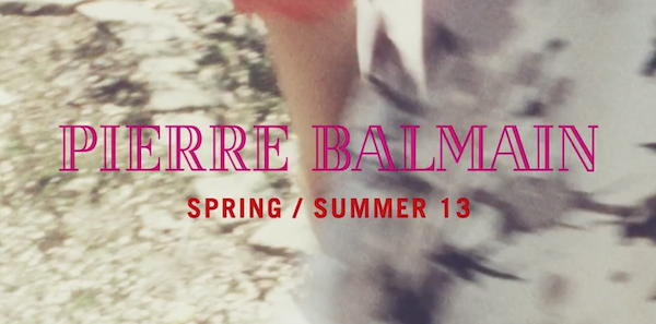 Pierre Balmain Spring Summer 2013 Video