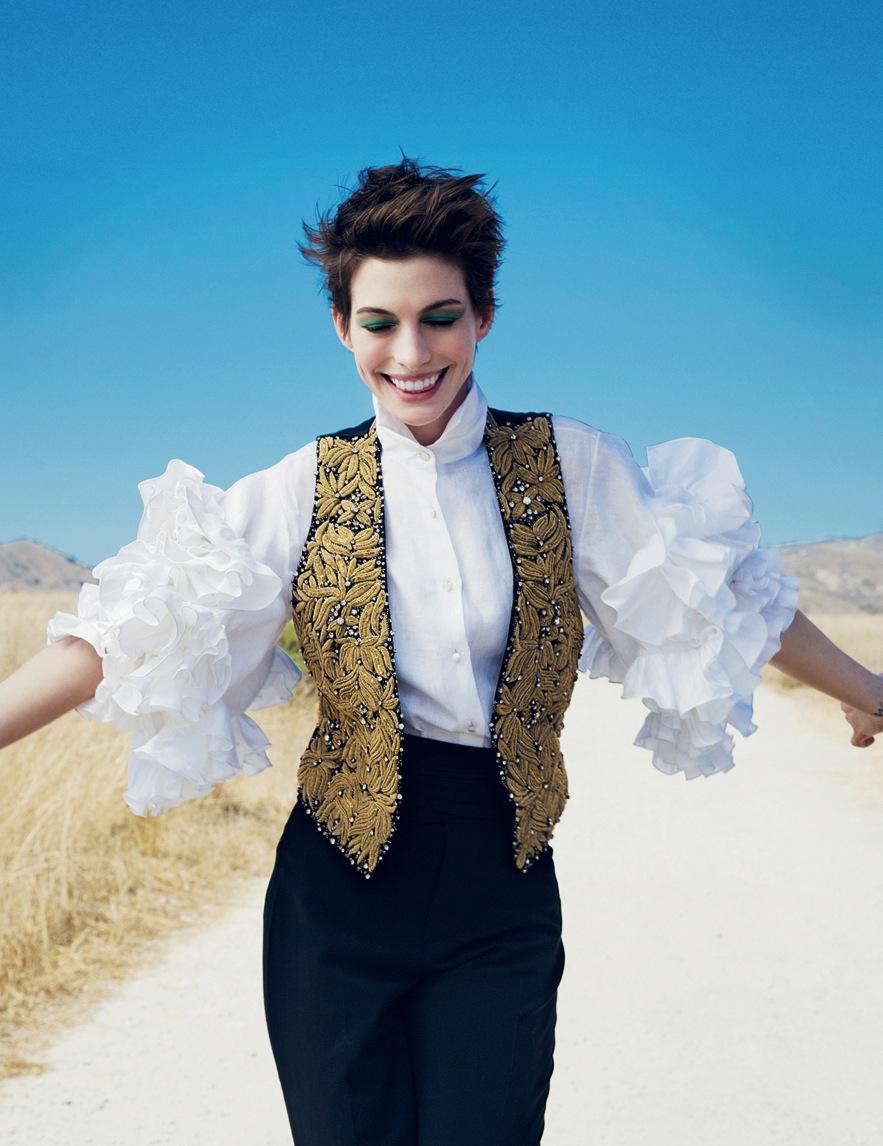Anne Hathaway For American Vogue By Annie Leibovitz