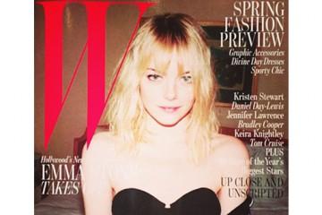 Emma Stone for W Magazine February 2013