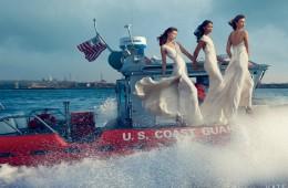 Karlie Kloss, Kasia Struss, Arizona Muse, Liu Wen & Joan Smalls by Annie Leibovitz for Vogue February 2013