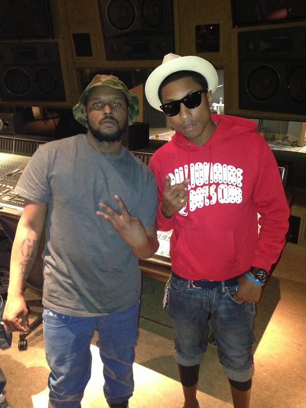 Pharrell Williams SchoolBoy Q in the Studio