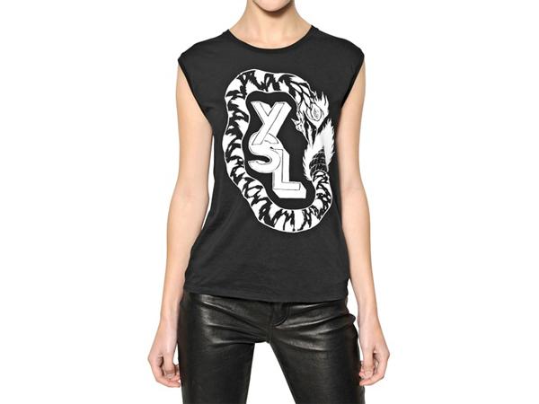 Grimes x Saint Laurent Paris T-Shirts Womens