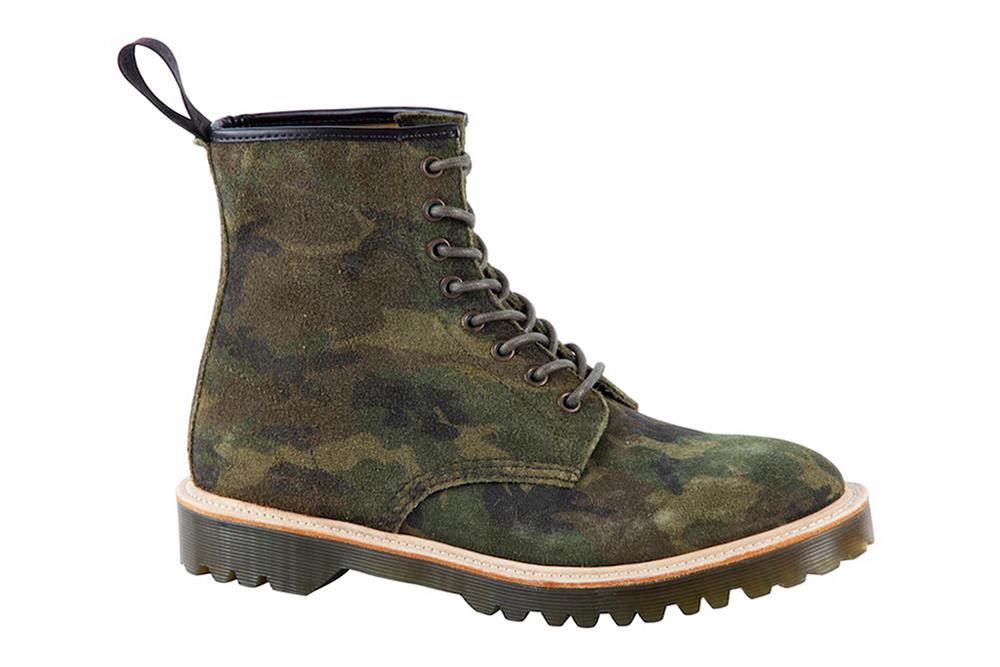 Dr Martens Fall 2013 Core Premium 1460 Green Camo Suede Boot