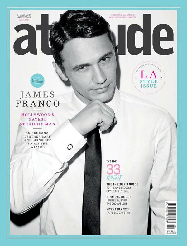 James Franco covers Attitude Magazine April 2013