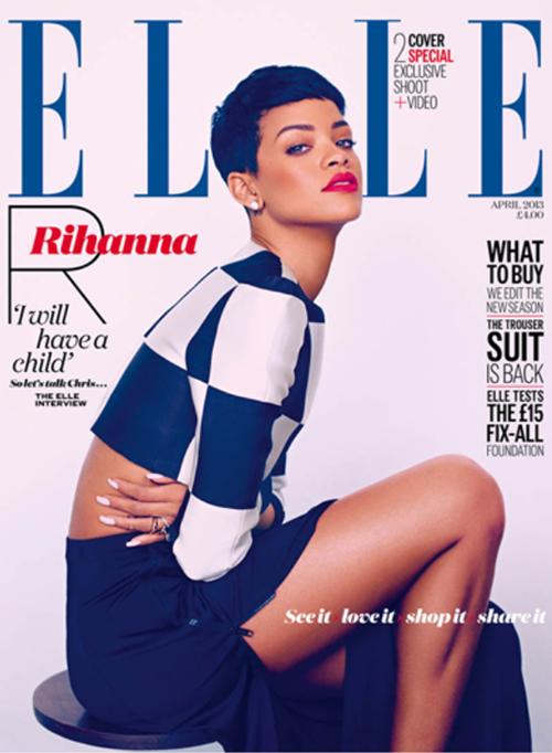 Rihanna for Elle UK by Mariano Vivanco