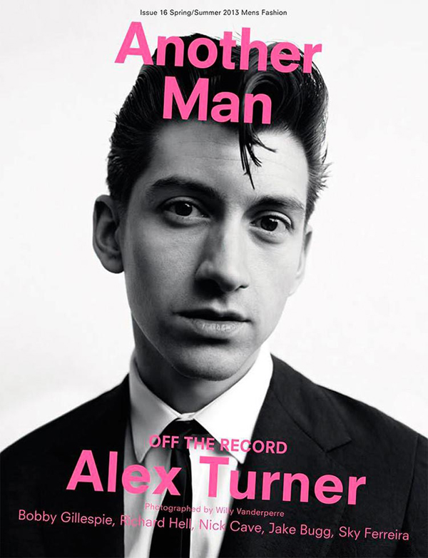 Arctic Monkeys Alex Turner Another Man Spring Summer 2013 Cover