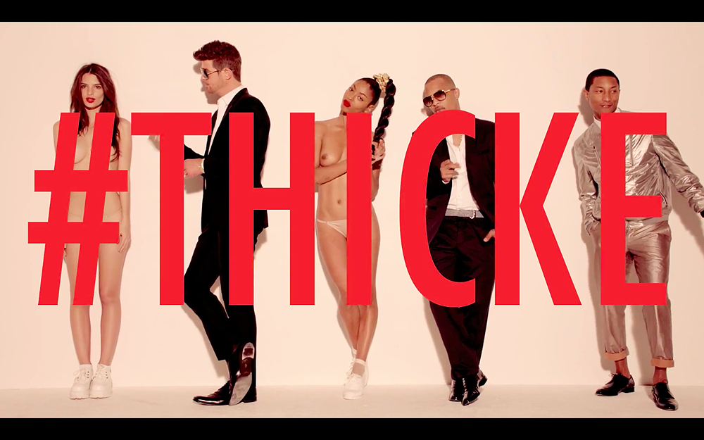 Robin Thicke TI Pharrell Blurred Lines NSFW
