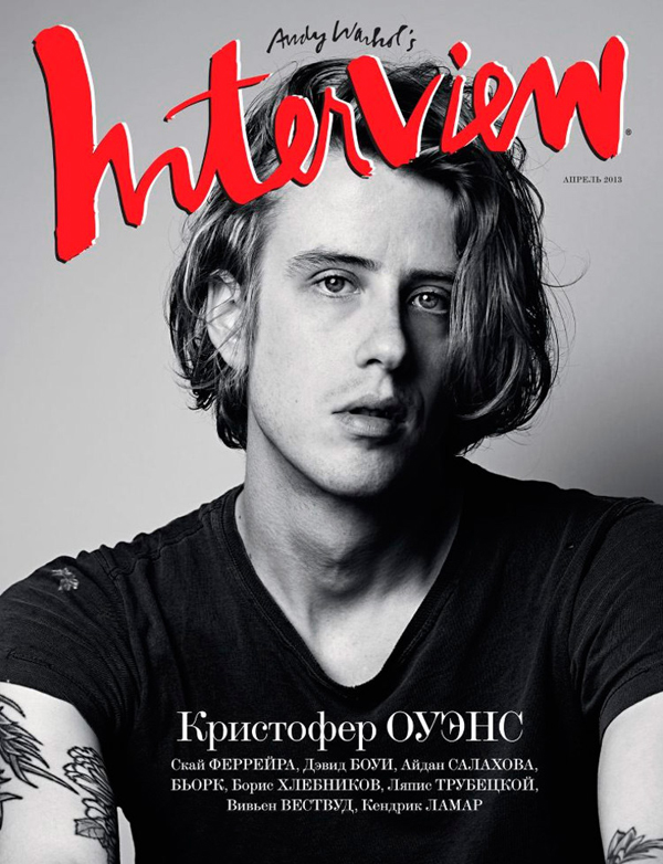 Christopher Owens for Interview Russia April 2013 Cover