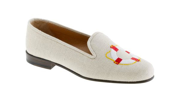Stubbs & Wootton for J. Crew Classic Linen Slippers-3