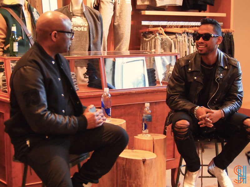 Candid with Miguel at Roots Canada