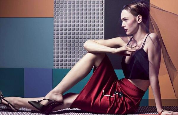 Sasha Pivovarova for Interview Magazine April 2013-5