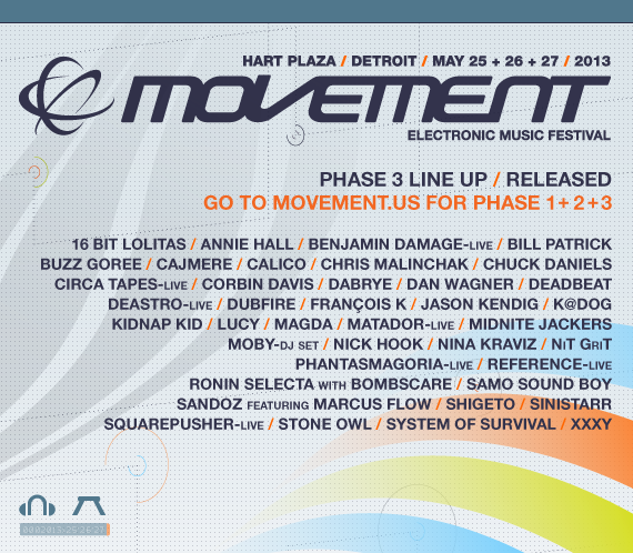 Movement Electronic Music Festival Update Line Up