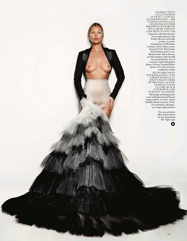 Kate Moss for Vogue by Mario Testino