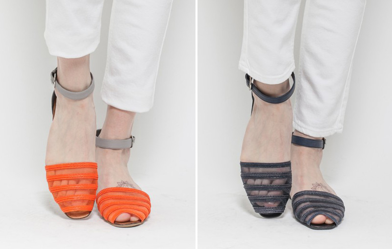 Rachel Comey Faye Orange Straw Sandals