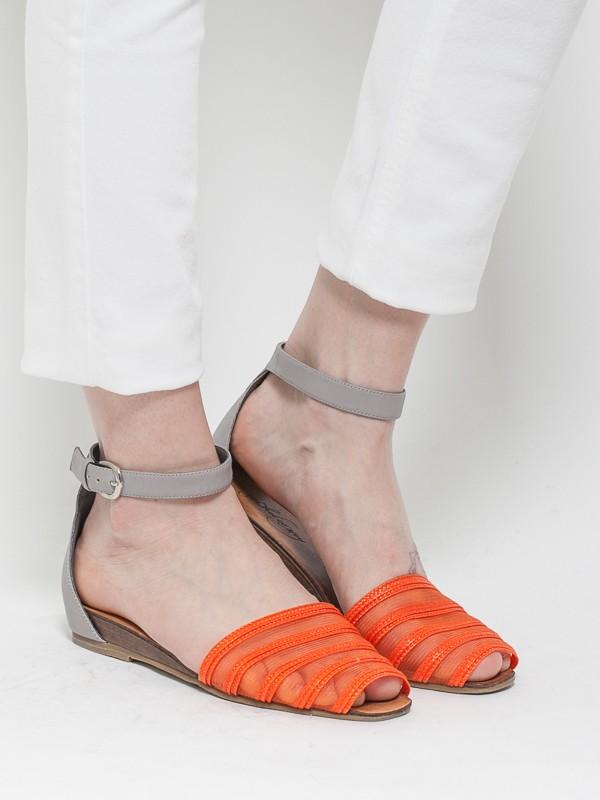 Rachel Comey Faye Straw Sandals Orange