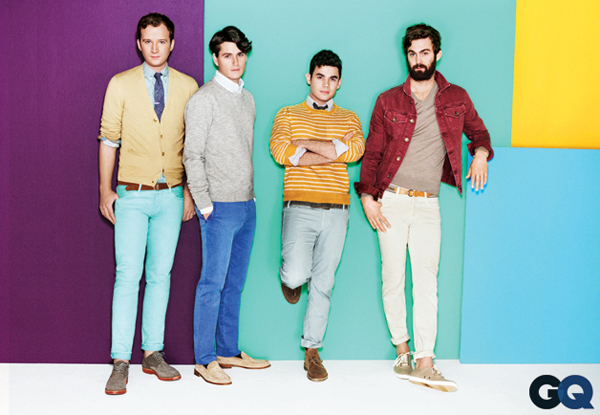 Vampire Weekend for GQ Magazine's 'Wear It Now Fade Up'