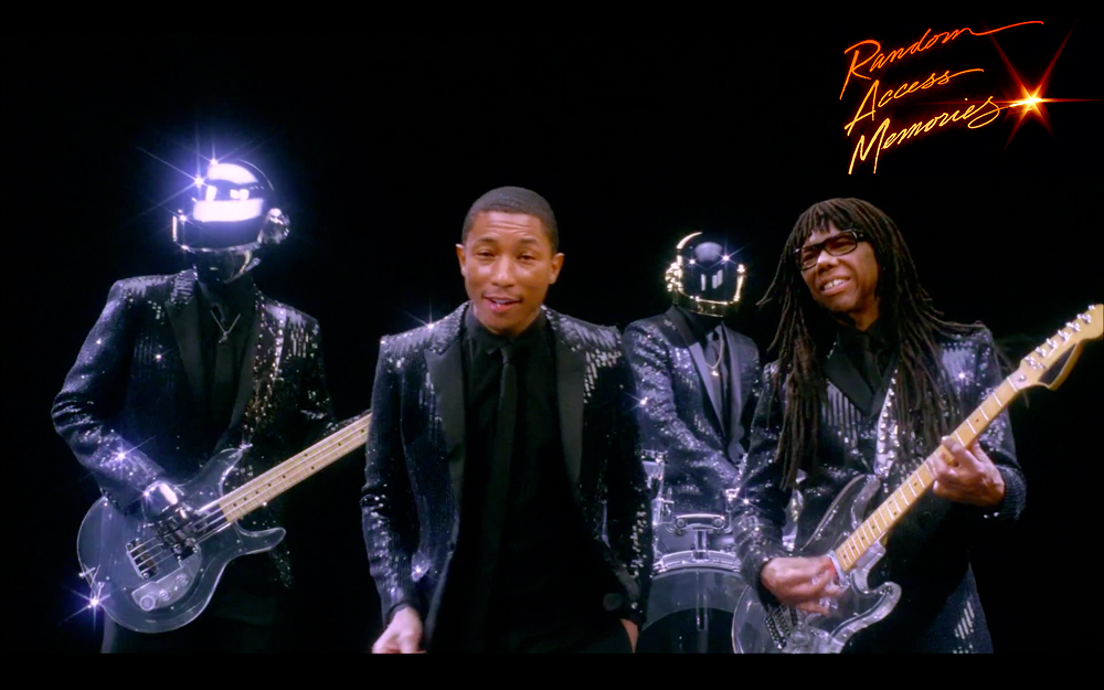 Daft Punk Pharrell Williams Nile Rodgers Get Lucky SNL