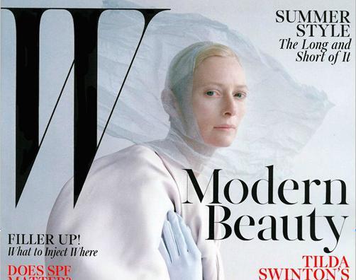 Tilda Swinton for W Magazine May 2013