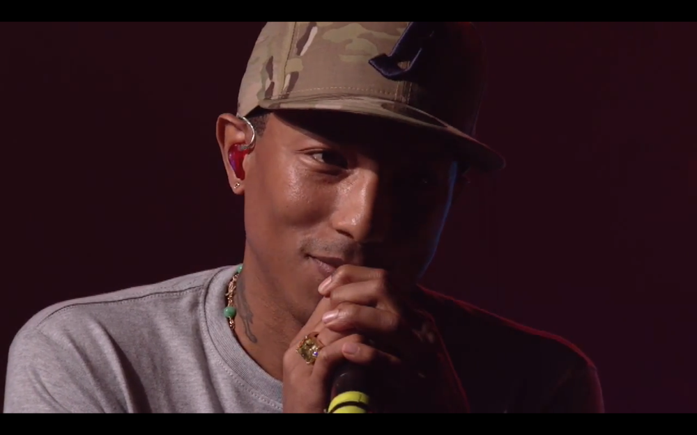 Pharrell Williams performs Get Lucky Live No Daft Punk