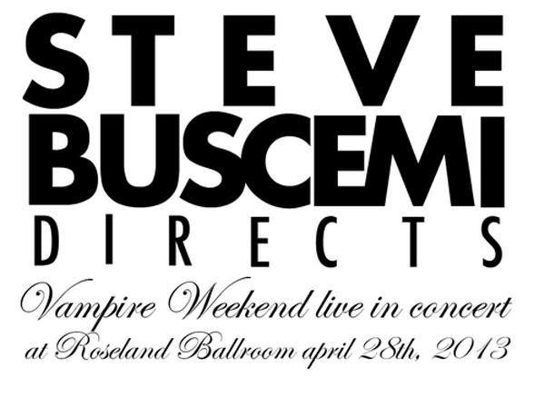 Amex UNSTAGED presents Vampire Weekend Steve Buscemi