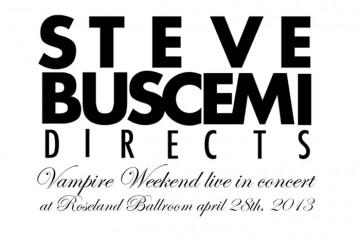 Steve Buscemi Vampire Weekend Amex Live Stream April 28