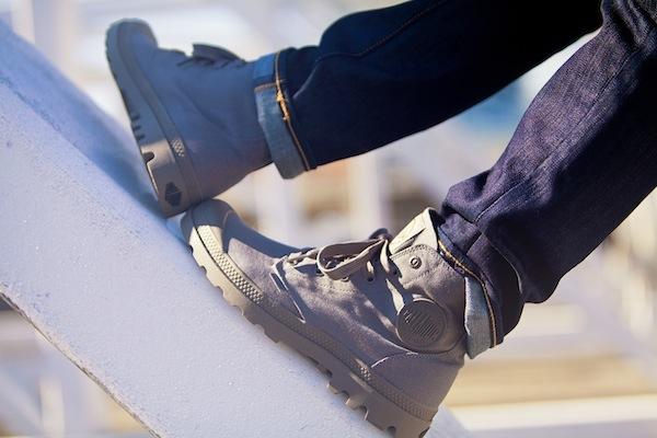 Sidewalk Hustle x Palladium Monochrome Lookbook-Dark Grey