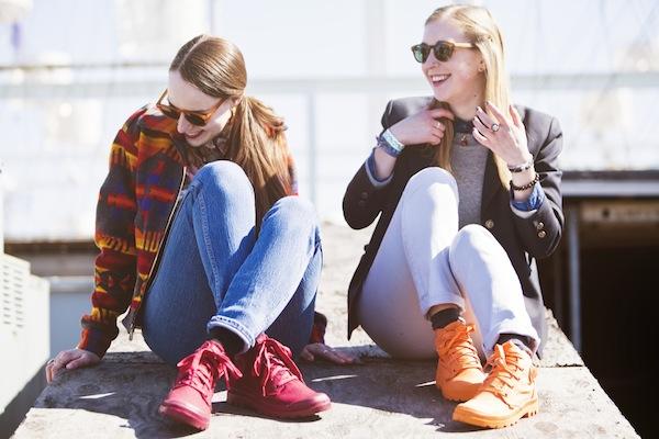 Sidewalk Hustle x Palladium Monochrome Lookbook-Maroon & Bright Orange