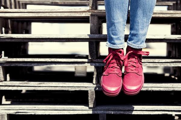 Sidewalk Hustle x Palladium Monochrome Lookbook-Maroon Close