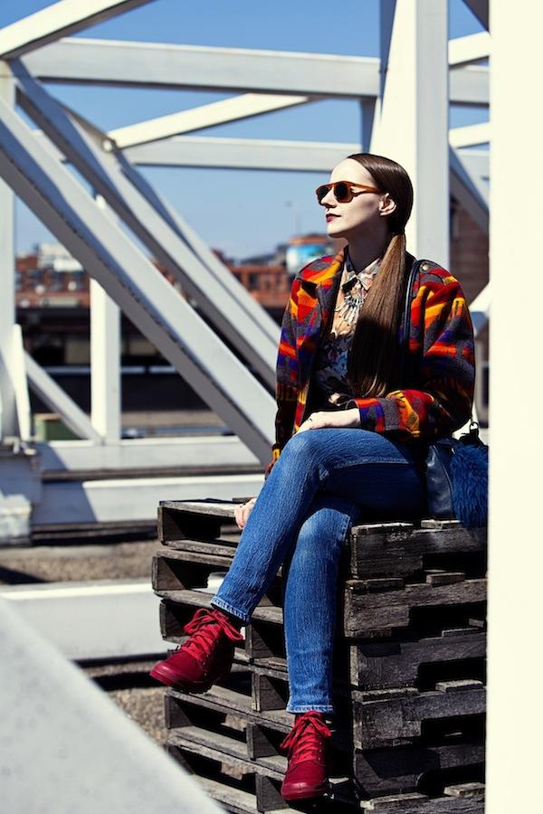 Sidewalk Hustle x Palladium Monochrome Lookbook-Maroon Full