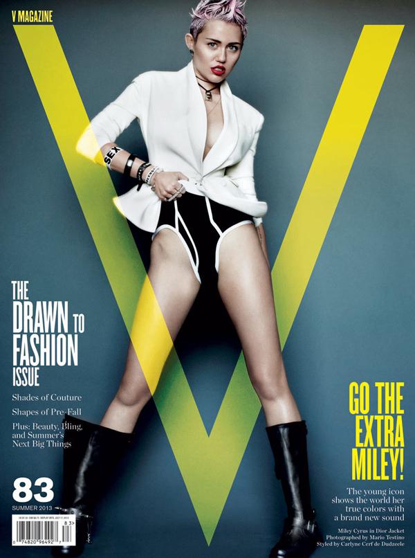 Miley Cyrus V Magazine 83 Cover