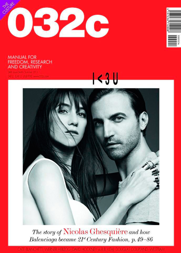 Nicolas Ghesquiere Charlotte Gainsbourg cover 032c Spring Summer 2013 Issue