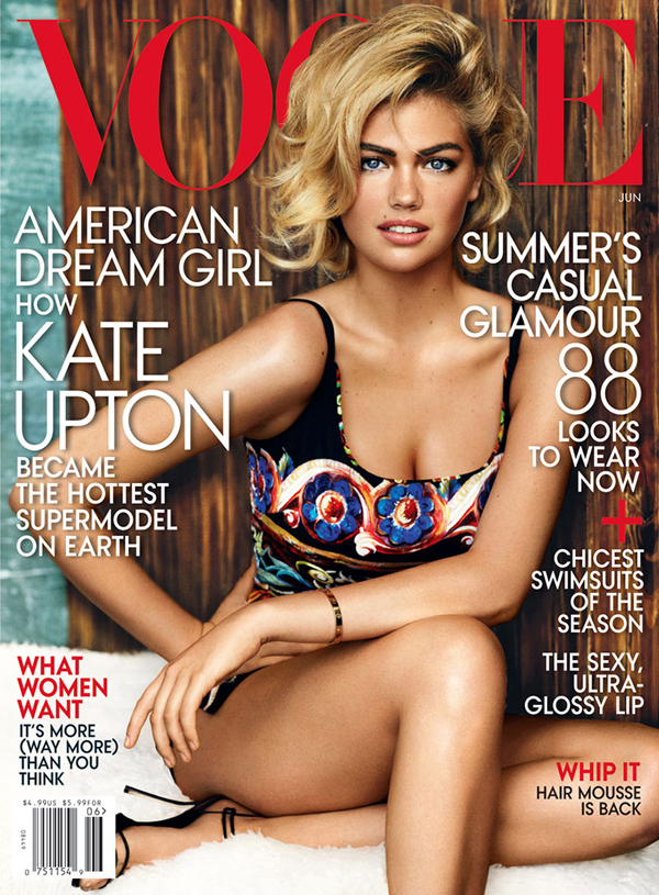 Kate Upton for Vogue June 2013 photographed by Mario Testino