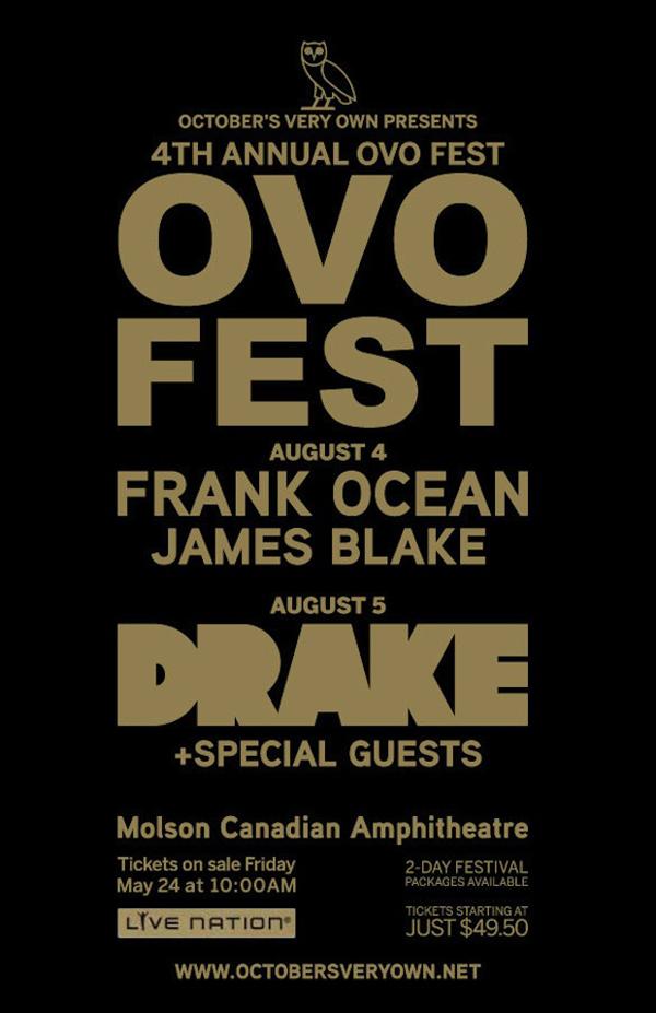 Drake OVO Festival Frank Ocean James Blake