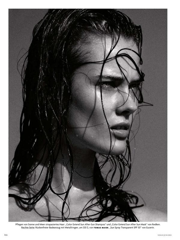 Monika Jac Jagaciak by Greg Kadel for Vogue Germany June 2013 NSFW
